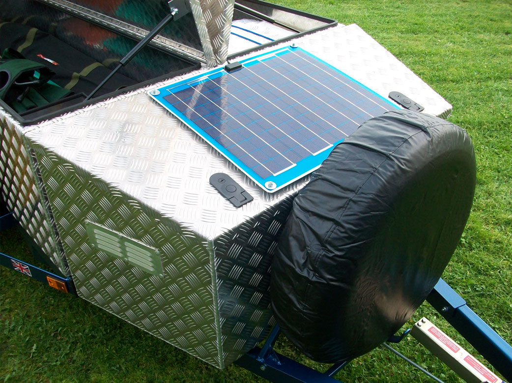 how to connect solar to camping trailer